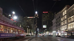 Time lapse tilt shot moving down New Orleans Canal Street Stock Footage