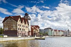 fishing village - tourist attraction. kaliningrad (until 1946 koenigsberg) - stock photo