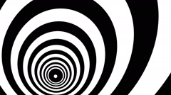 Concentric oncoming abstract symbol, bust - optical, visual illusion Stock Footage