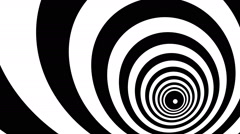 Concentric oncoming abstract symbol, bust - optical, visual illusion - stock footage
