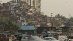 Mumbai city shot & Slum - stock footage