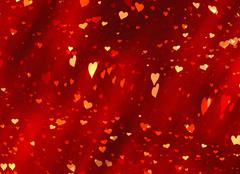 flying red hearts backgrounds of valentine's day. love texture - stock illustration