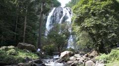 Khlong Lan waterfall, Thailand - stock footage
