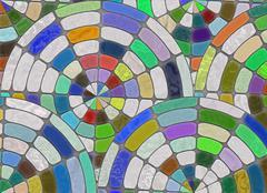 Arrangement of multicolored cobblestone. natural stones backgrounds Stock Illustration
