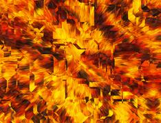 Abstract bright fire burst backgrounds with techno transparent glass Stock Illustration