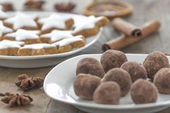 christmas pastries and sweets - stock photo