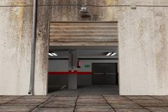 Garage exit Stock Illustration