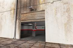 Stock Illustration of garage exit