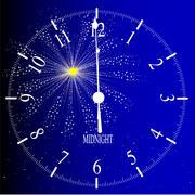 midnight - stock illustration