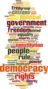 Democracy word cloud Stock Illustration