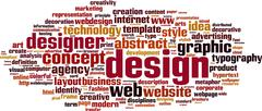 Stock Illustration of design word cloud