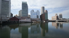 Stock Video Footage of Time lapse tilt shot Boston waterfront