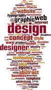design word cloud - stock illustration
