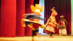 Raksha natuma, devil dance Kandyan Dancers Sri Lanka Stock Footage