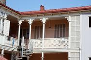 Stock Photo of traditional georgian architecture in abanotubani historical part of tbilisi