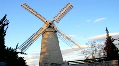 Montefiore Windmill. Jerusalem Stock Footage