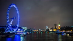 4k, Ultra HD, UHD time-lapse of a London cityscape at dusk - stock footage