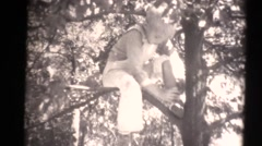 1934 kids on estate ,watched by nanny - stock footage