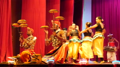 Raban dance Kandyan Dancers Sri Lanka Stock Footage