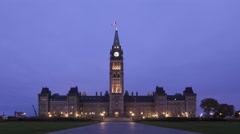 4K Time lapse Parliament Canada Stock Footage