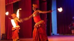 Gini sisila, fire dance Kandyan Dancers Sri Lanka Stock Footage