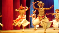 Ves Natuma dance Kandyan Dancers Sri Lanka Stock Footage