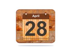 April 28. Stock Illustration