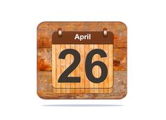 April 26. Stock Illustration