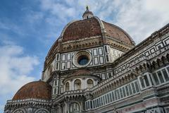 duomo basilica cathedral church in florence italy - stock photo