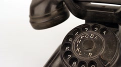 Old Retro telephone Stock Footage
