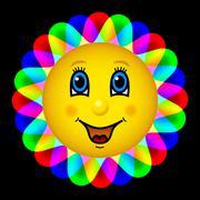 Happy bloom sun Stock Illustration