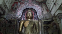 Buddha statue inside the lankatilaka temple in kandy Stock Footage