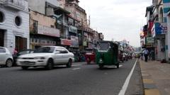 Tuk tuks in the streets of kandy, Sri Lanka Stock Footage
