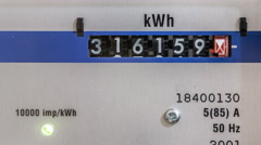 Electricity meter zoom in Stock Footage