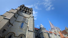 Cathedral of Lausanne - Timelapse Stock Footage