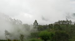 Clouds moving over a tea plantations in Sri lanka Stock Footage