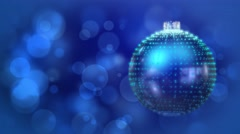 Midnight Blue Festive Christmas Bauble Abstract Motion Background Stock Footage
