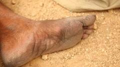 Closeup of Foot Stock Footage