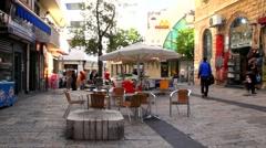 Old Jerusalem - Ben Yehuda  street - stock footage