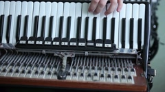 Mechanics of accordion Stock Footage