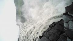Powerful Dettifoss waterfall Stock Footage