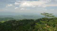 Pan from a mountain range Landscape, Sabaragamuwa region, Sri Lanka Stock Footage