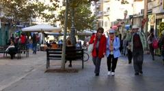 Stock Video Footage of Old Jerusalem- Ben Yehuda  str 23