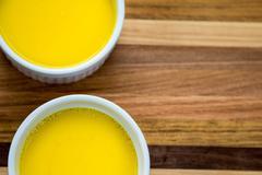duck egg custard - stock photo