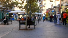 Old Jerusalem- Ben Yehuda  street - stock footage