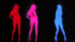 A Striptease Dance Visual For Vjs And Sexy Parties - stock footage