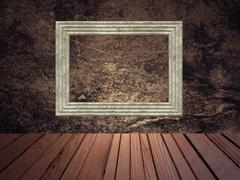 grunge abstract background with picture frame. - stock illustration