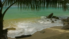 Wild beach without people. thailand, phuket island Stock Footage
