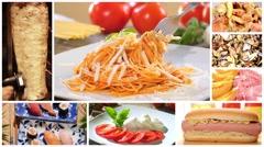 International cuisine montage Stock Footage
