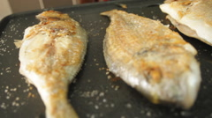 Stock Video Footage of Grill Fish
